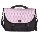Pink Polka Dots on White Computer Bag