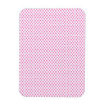 Pink Polka Dots on White Rectangle Magnet