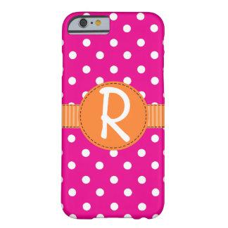 Pink Polka Dots, Orange Ribbon, iPhone 6 Case