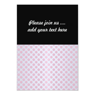 Pink Polka Dots over Silvery White Card