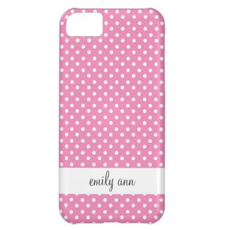 Pink Polka Dots Pattern Case For iPhone 5C