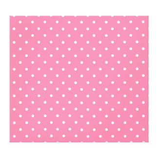 Pink Polka Dots Pattern Design Texture Canvas Print