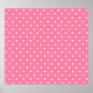Pink Polka Dots Pattern Design Texture Poster