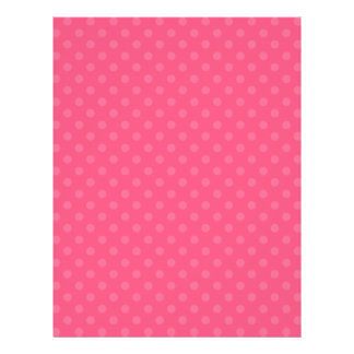 "Pink polka dots pattern 8.5"" x 11"" flyer"