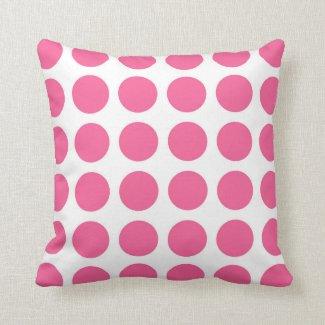 Pink Polka Dots Pillow