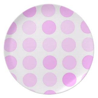Pink Polka Dots Plate