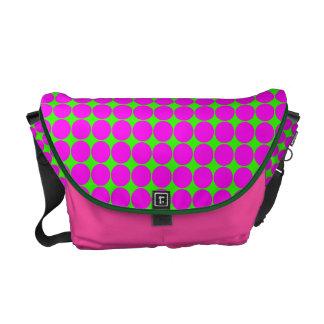 Pink Polka Dots Rickshaw Messenger Bag