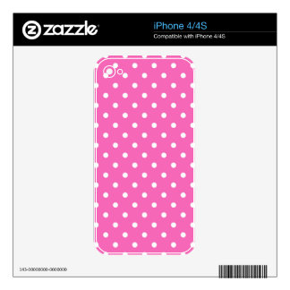 pink polka dots skins for the iPhone 4