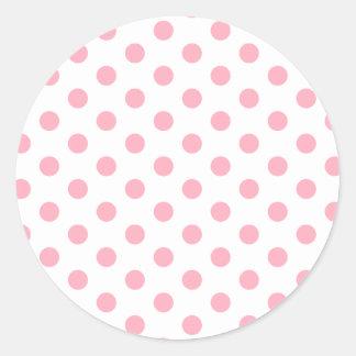 Pink Polka Dots Sticker