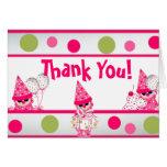 Pink Polka Dots Thank you CARD