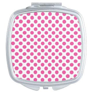 Pink Polka Dots Vanity Mirror