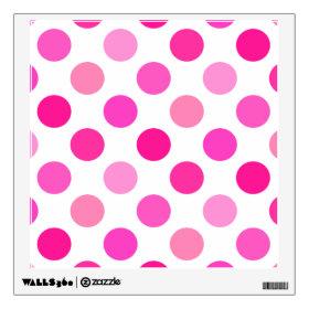 Pink Polka Dots Wall Skin