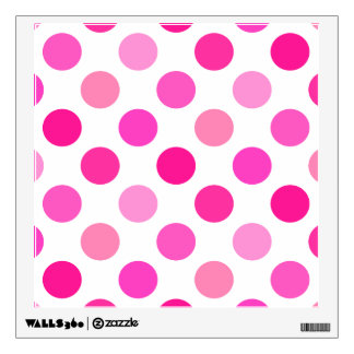 polka dot wall decals amp wall stickers zazzle polka dot wall decal confetti rainbow polka dot pattern