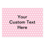 Pink Polka Dots, with Custom Black Text. Large Business Cards (Pack Of 100)