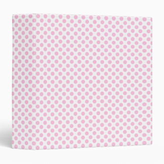 Pink Polka Dots with Customizable Background 3 Ring Binder