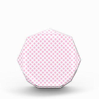 Pink Polka Dots with Customizable Background Acrylic Award