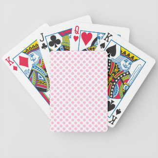 Pink Polka Dots with Customizable Background Bicycle Playing Cards