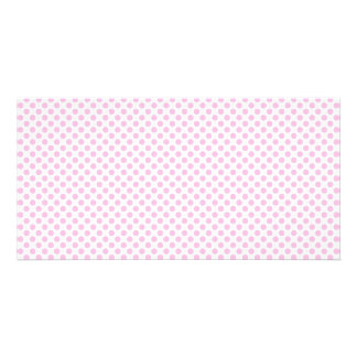 Pink Polka Dots with Customizable Background Card