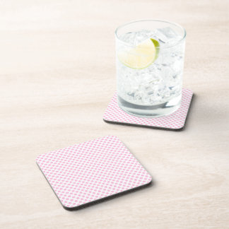 Pink Polka Dots with Customizable Background Coaster
