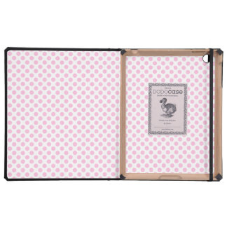 Pink Polka Dots with Customizable Background Covers For iPad