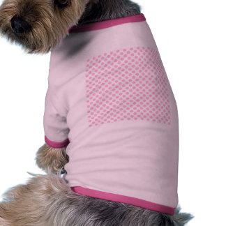 Pink Polka Dots with Customizable Background Doggie Tee Shirt