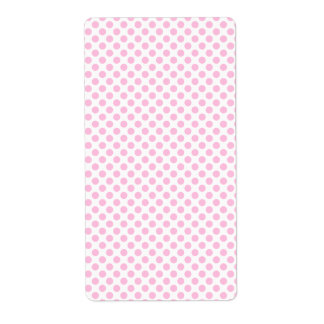Pink Polka Dots with Customizable Background Label