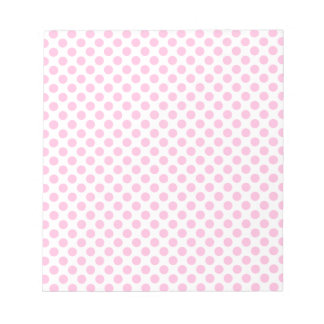 Pink Polka Dots with Customizable Background Notepad