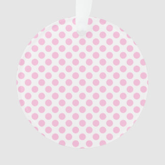 Pink Polka Dots with Customizable Background Ornament