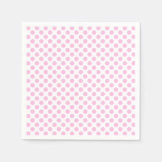 Pink Polka Dots with Customizable Background Paper Napkin