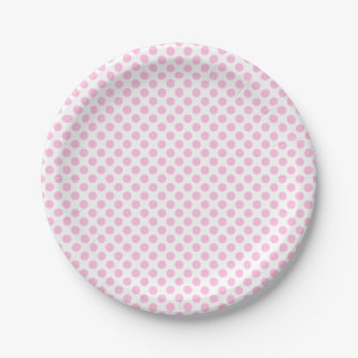 Pink Polka Dots with Customizable Background Paper Plate