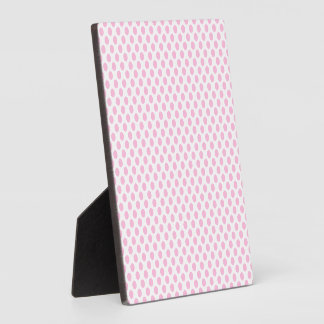 Pink Polka Dots with Customizable Background Plaque