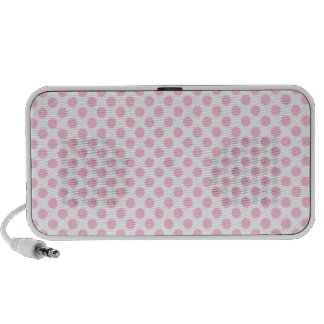 Pink Polka Dots with Customizable Background Travelling Speaker