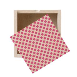 Pink Polka Dots Wooden Keepsake Box