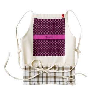 Pink Polka Dots Zazzle HEART Apron