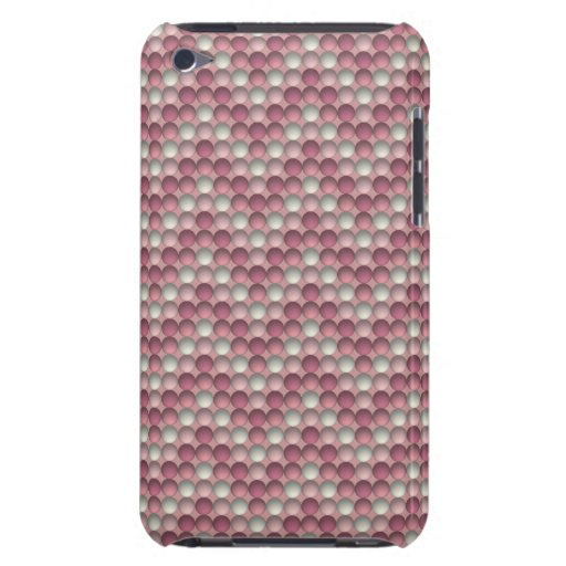 Pink Polka Dots Zig Zag Pattern Barely There iPod Cover
