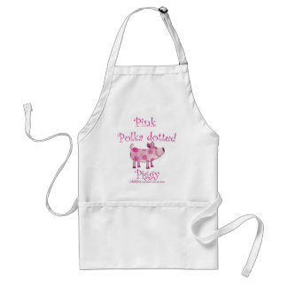 Pink Polka dotted Piggy Adult Apron