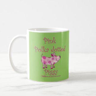 Pink Polka dotted Piggy Coffee Mug