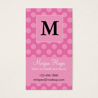 Pink Polka Mommy Card