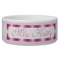 Pink Polka Personalized Bowl