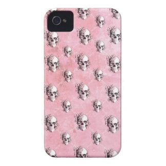 -PINK POLKA SKULL IPHONE CASE- iPhone 4 Case-Mate CASE