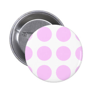 Pink Polka Spots Pinback Button
