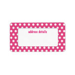 Pink polkadot custom address label
