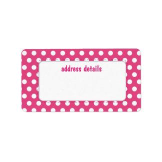 Pink polkadot label