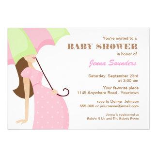 Pink Polkadot Mom to Be Baby Shower Invitation