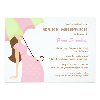 Pink Polkadot Mom to Be Baby Shower Invitation