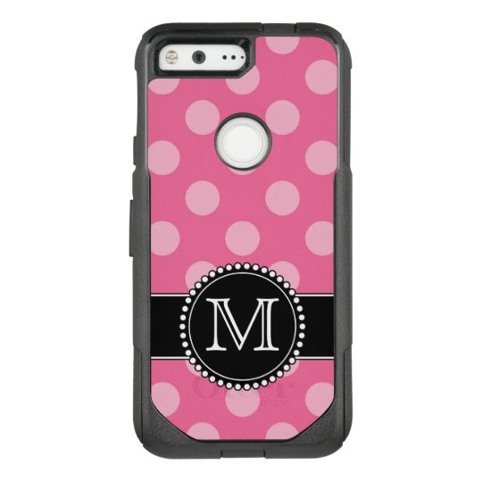 new concept ce7bd 71ce6 Pink Polkadot, Personalized, Monogrammed Defender OtterBox Commuter Google  Pixel Case