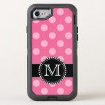 Pink Polkadot, Personalized, Monogrammed Defender Otterbox Defender Iphone 8/7 Case at Zazzle