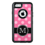 Pink Polkadot, Personalized, Monogrammed Defender Otterbox Defender Iphone Case at Zazzle