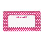 Pink polkadot personalized shipping label