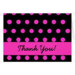 Pink Polkadot thank you Cards